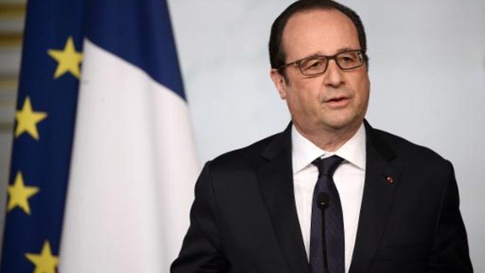 Le président François Hollande présente la nouvelle loi de programmation militaire, le 29 avril 2015 à l'Elysée