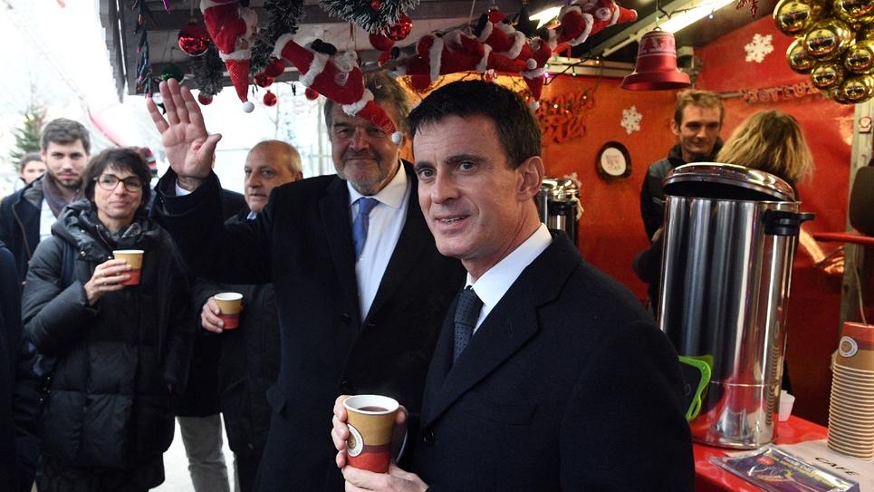 Le Premier ministre Manuel Valls à La Rochelle le 15 décembre 2016