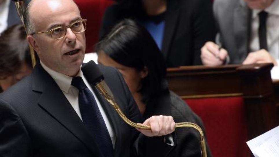 Le ministre de l'Intérieur Bernard Cazeneuve le 29 octobre 2014 à l'Assemblée nationale à Paris