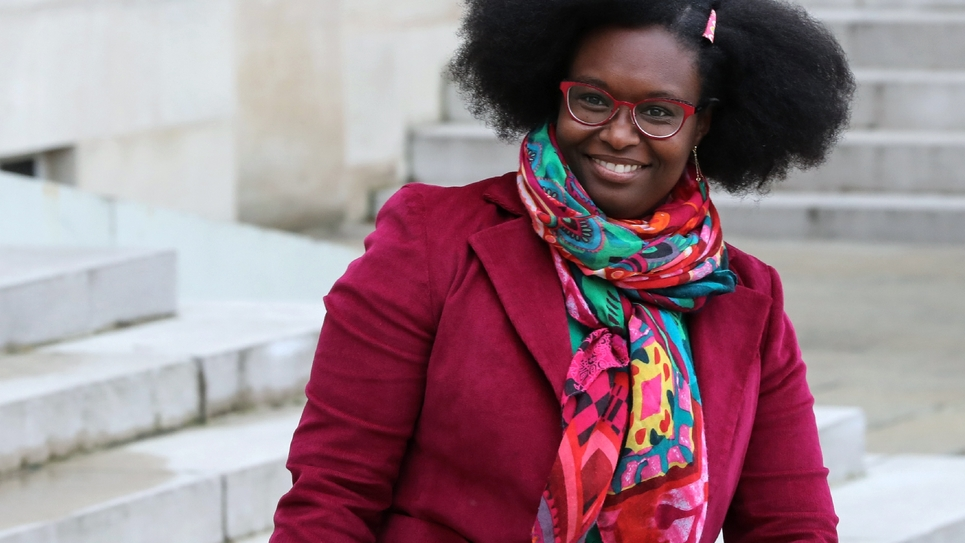 La porte-parole du gouvernement Sibeth Ndiaye le 21 octobre 2019 à Paris