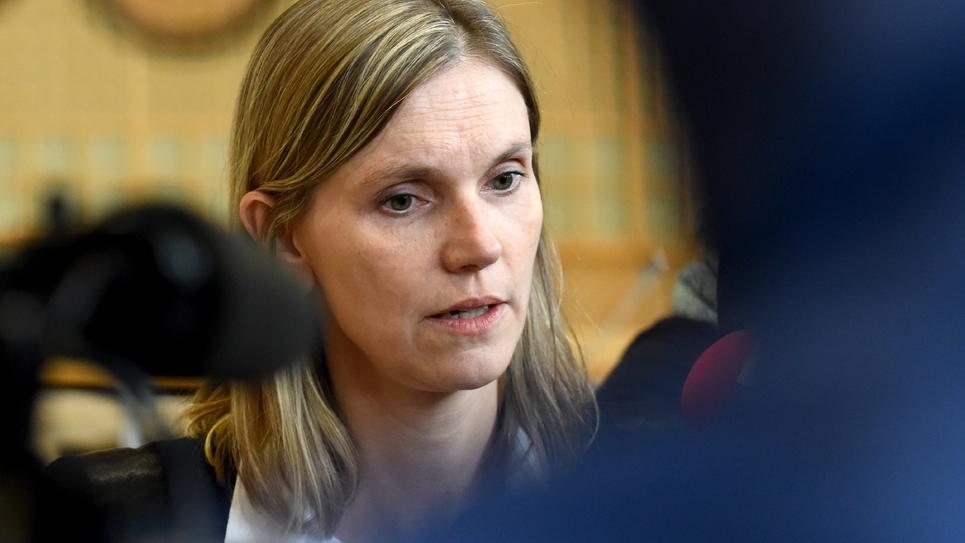 Le secrétaire d'Etat à l'Economie Agnès Pannier-Runacher à Paris le 26 octobre 2018