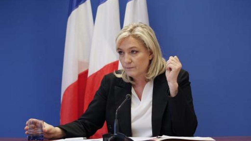La présidente du FN Marine Le Pen, le 16 janvier 2015 à Nanterre