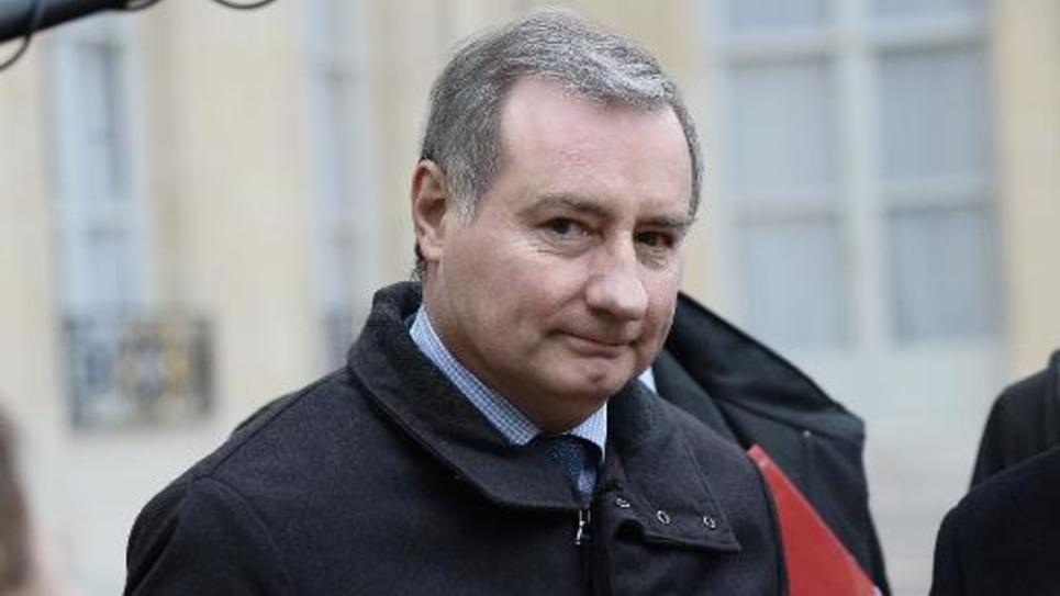 Le maire de Toulouse Jean-Luc Moudenc quitte l'Elysée, le 19 février 2015 à Paris