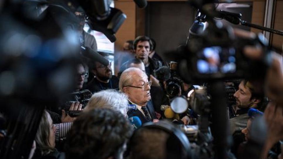 Le président d'honneur du Front national Jean-Marie Le Pen le 29 novembre 2014 à Lyon