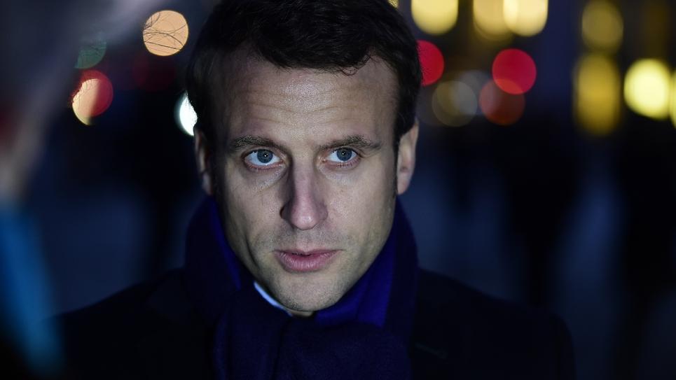 Emmanuel Macron, candidat à l'élection présidentielle, le 10 janvier 2017 à Berlin