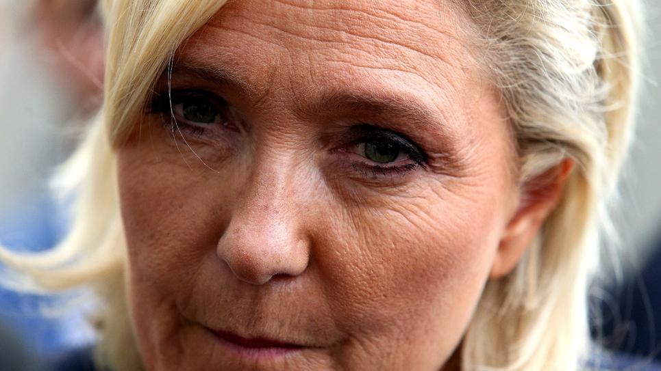 Marine Le Pen, à Châlons-en-Champagne, le 7 septembre 2018