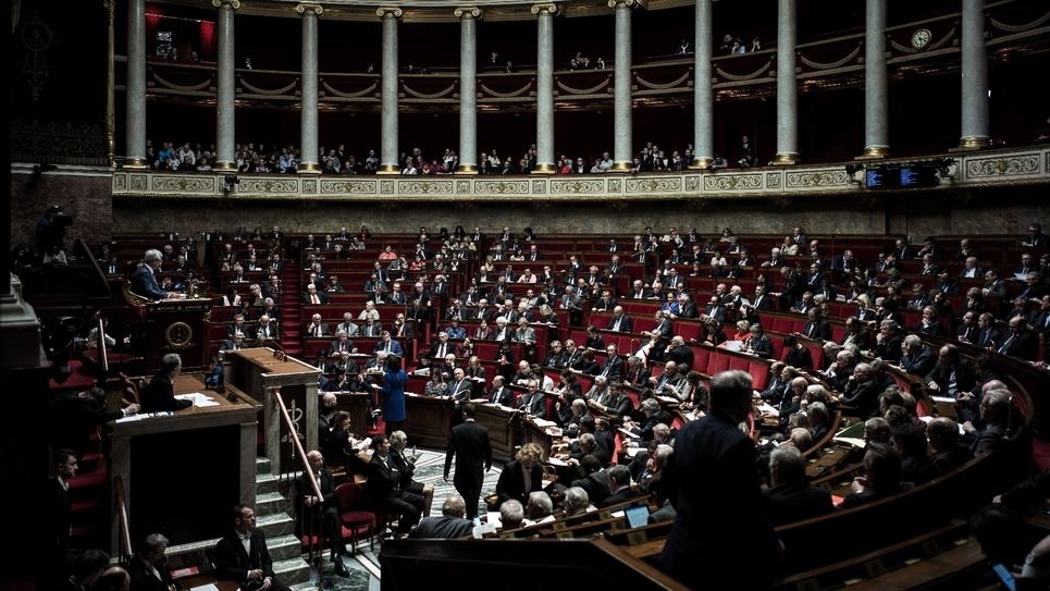 Députés en session, le 31 janvier 2017 à Paris