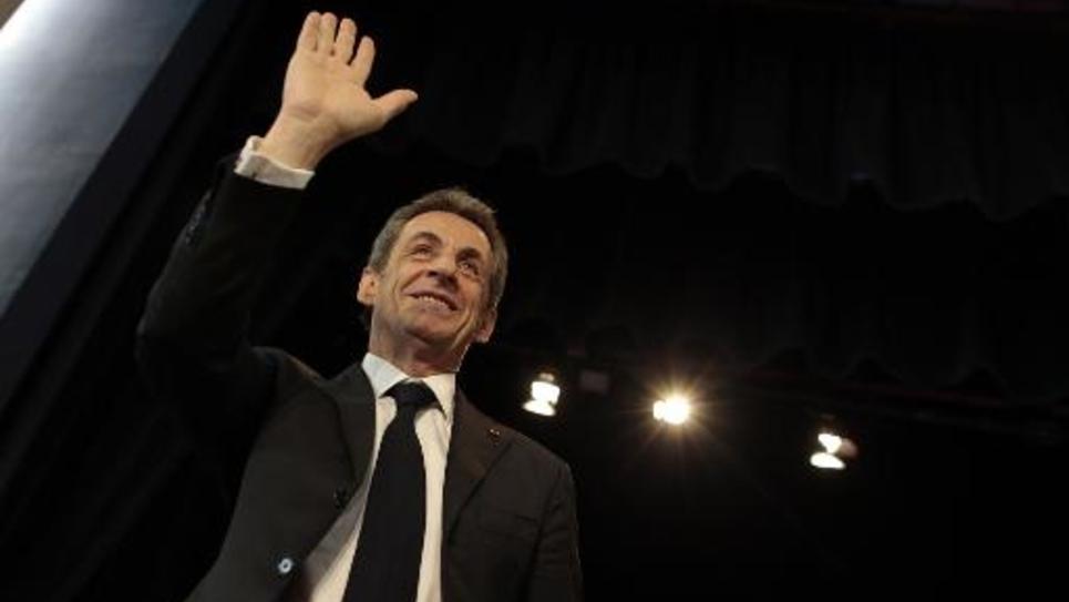 Le président de l'UMP Nicolas Sarkozy, le 26 mai 2015 au Havre