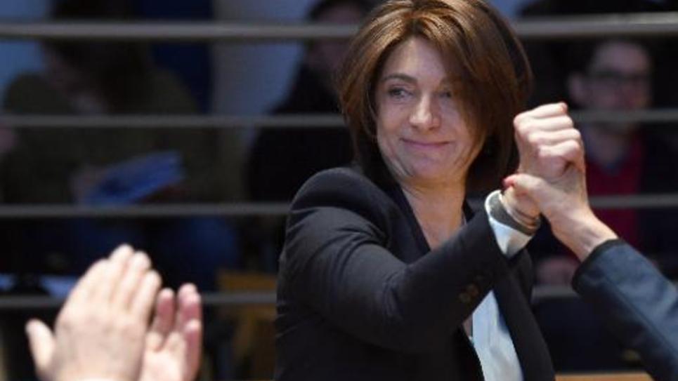 Martine Vassal élue présidente du conseil départemental des Bouches-du-Rhône, le 2 avril 2015 à Marseilles