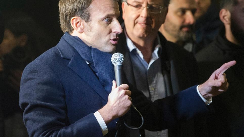 Emmanuel Macron le 16 janvier 2017 à Quimper