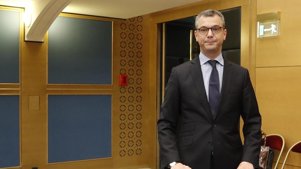 Le secrétaire général de l'Elysée Alexis Kohler devant la commission d'enquête du Sénat sur l'affaire Benalla le 26 juillet 2018 à Paris