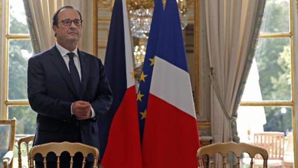 Le président François Hollande à l'Elysée, le 17 septembre 2014