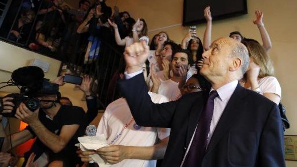 Le maire de Bordeaux Alain Juppé à la Plaine-Saint-Denis le 2 juin 2015