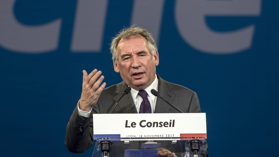 Francois Bayrou, le 18 novembre 2017