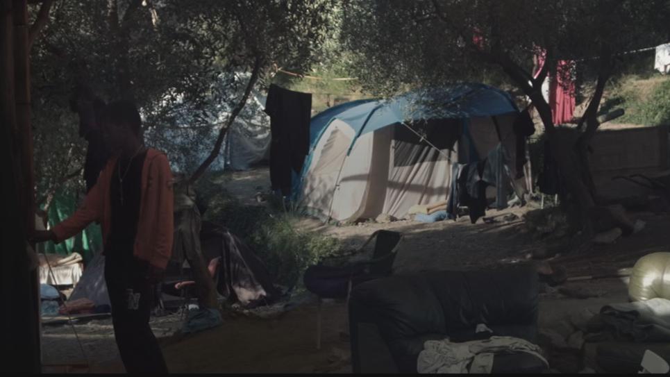 campement dans la vallée de la roya