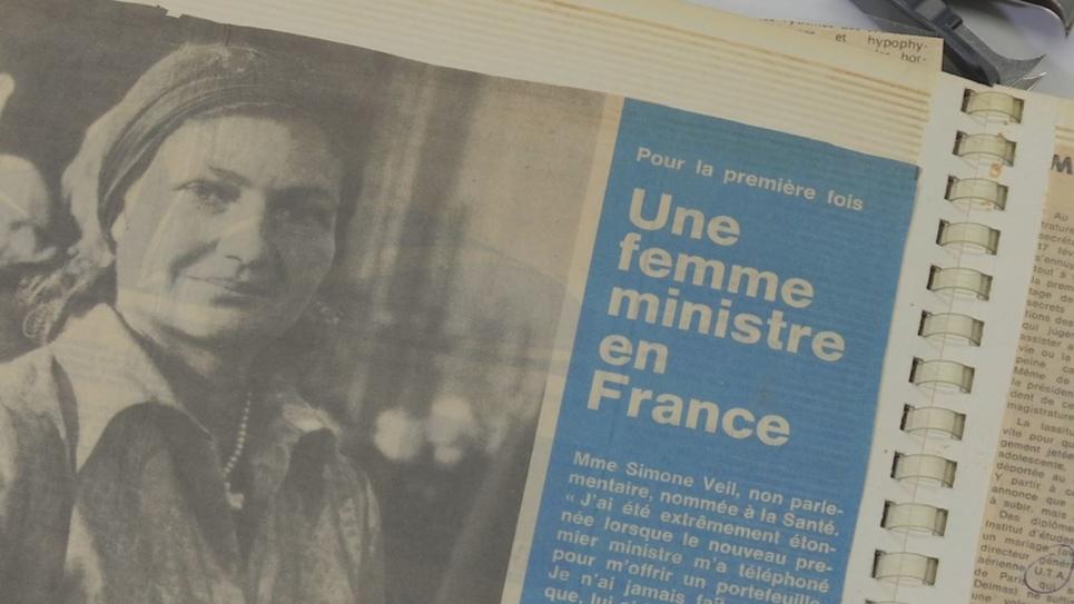 Simone Veil, nommée ministre de la santé en 1974