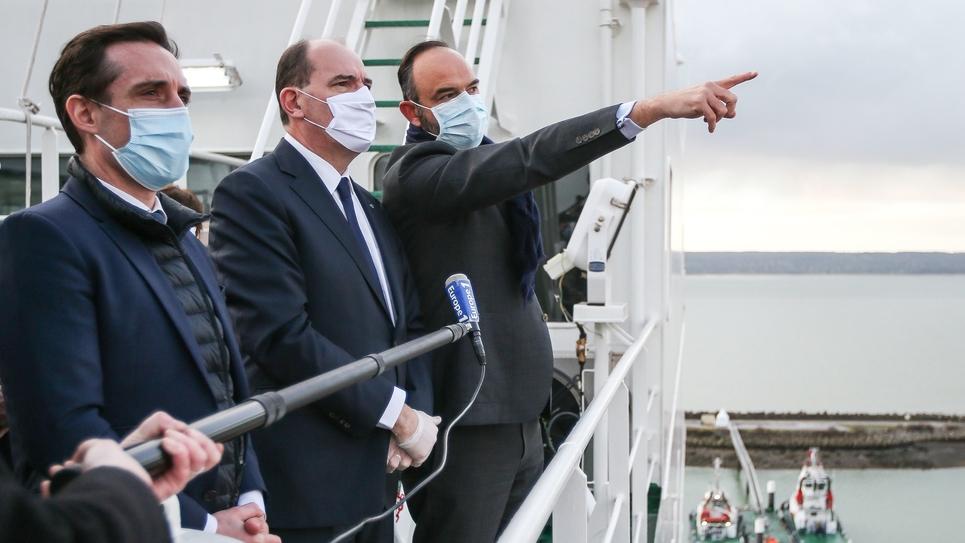 Jean Castex au port du Havre