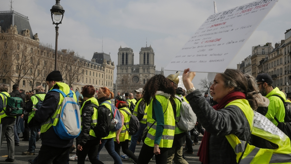 """Manifestation de """"gilets jaunes"""" le 23 mars 2019 à Paris"""
