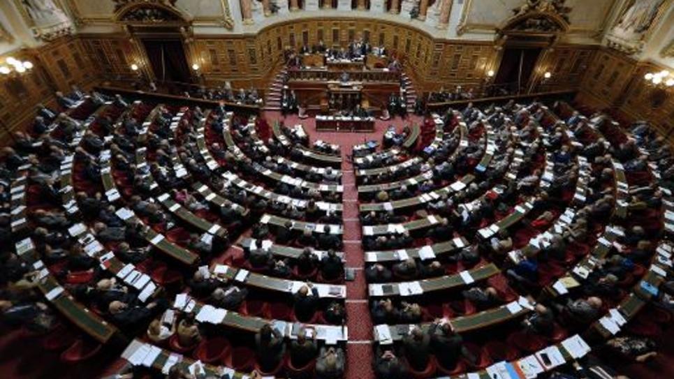 Vue générale du Sénat lors d'un discours du Premier ministre Manuel Valls le 28 octobre 2014