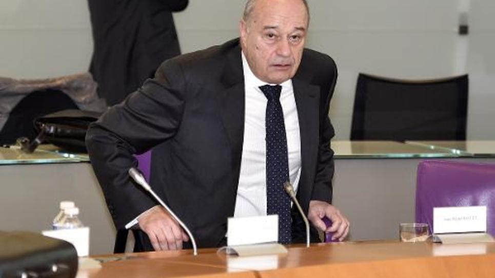 Jean-Michel Baylet lors de l'élection à la présidence  départementale le 2 avril 2015 à Montauban