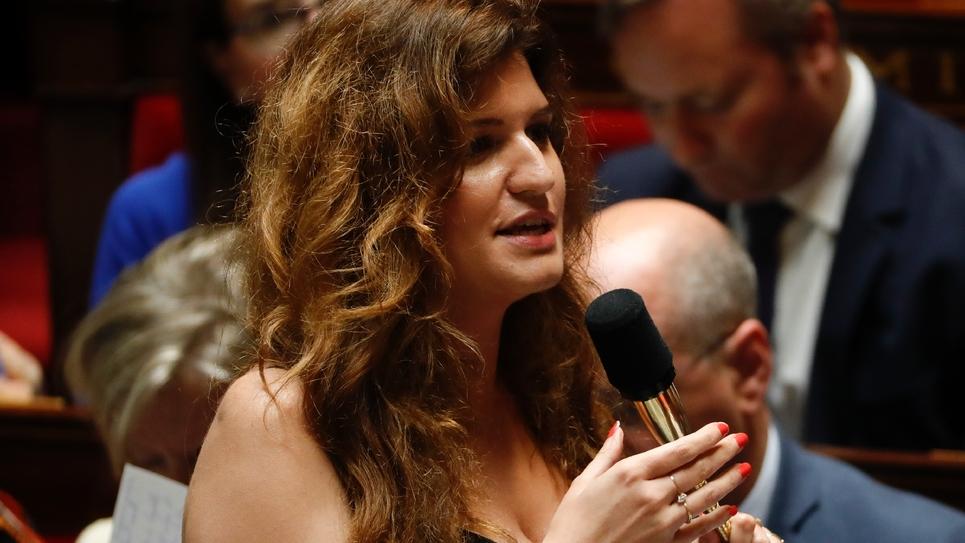 La secrétaire d'Etat à l'Egalité femmes-hommes Marlène Schiappa à l'Assemblée nationale, le 26 juin 2019 à Paris