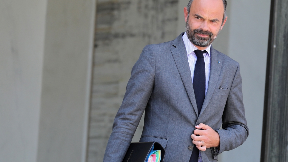 Le Premier ministre Edouard Philippe quitte le Palais de l'Elysée, le 24 juillet 2019 à Paris