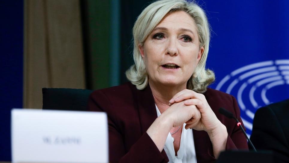 Marine Le Pen à Bruxelles, le 13 juin 2019