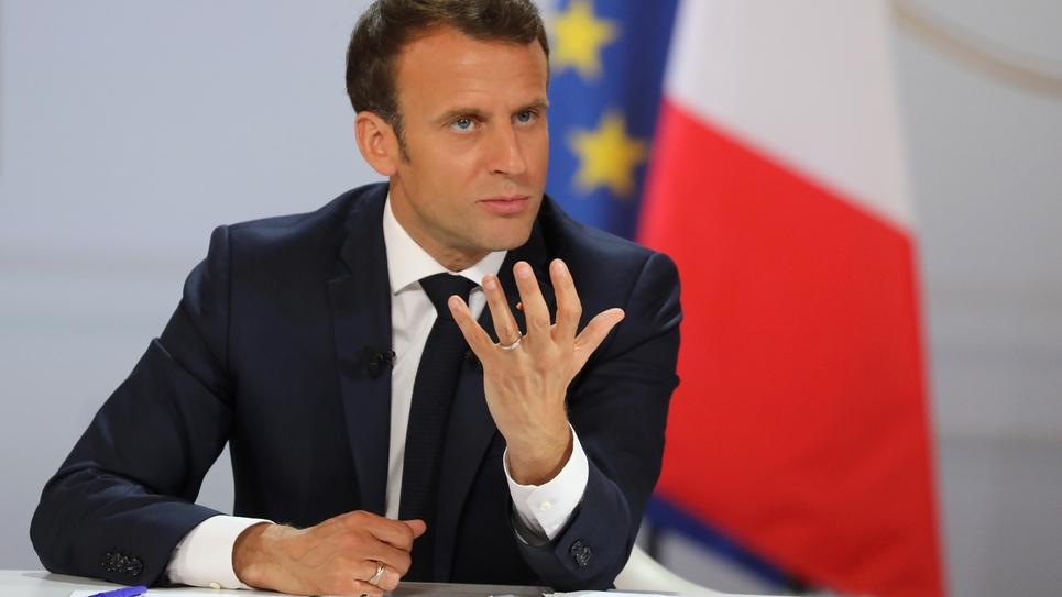 Le président Emmanuel Macron lors de sa conférence de presse à l'Elysée, le 25 avril 2019 à Paris