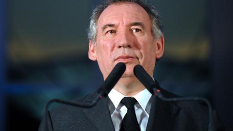 Francois Bayrou, président du Modem, le 9 janvier 2015 à Pau