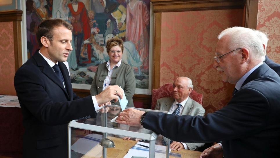 Emmanuel Macron a voté au Touquet, le 26 mai 2019