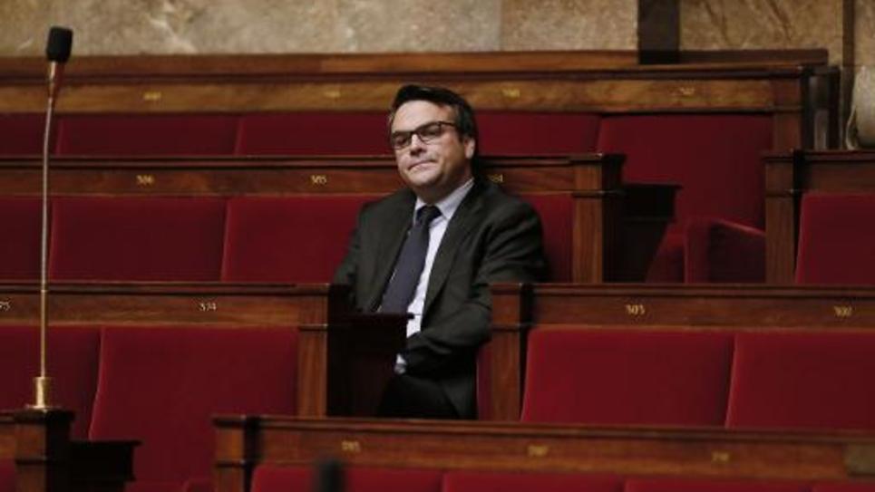 L'éphémère secrétaire d'Etat et député exclu du PS Thomas Thévenoud, le 28 novembre 2014 à l'Assemblée nationale, à Paris