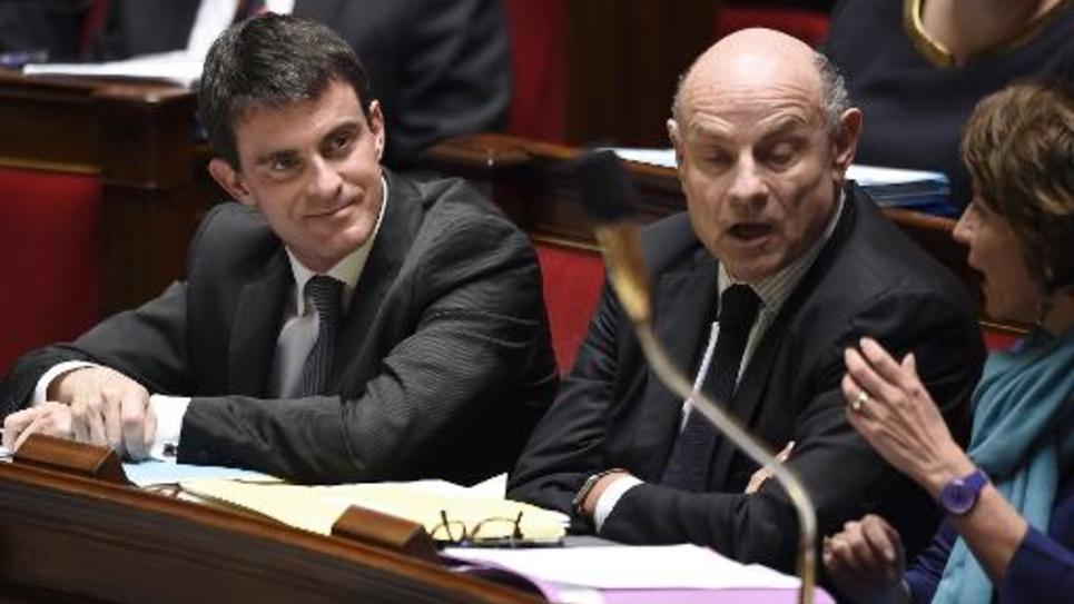 Manuel Valls, Jean-Marie Le Guen et Marisol Touraine le 21 octobre  2014 à l'Assemblé nationale à Paris