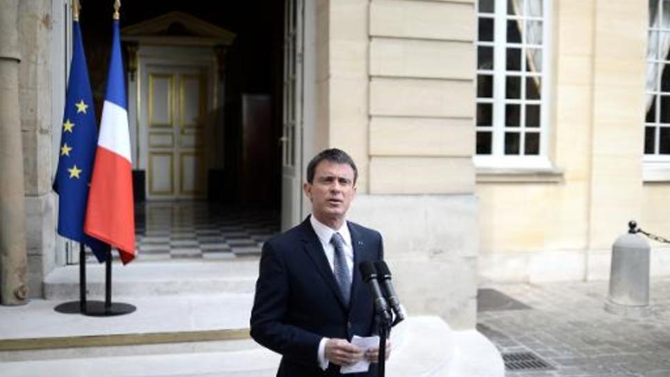 Manuel Valls à Matignon le 26 mai 2015 à Paris