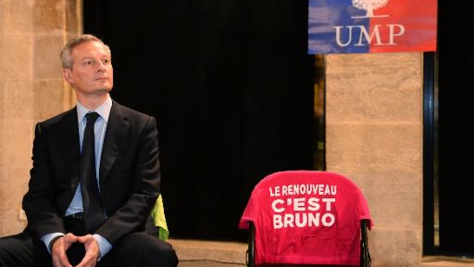 Le député UMP Bruno Le Maire, candidat à la présidence de son parti, le 6 novembre 2014 à Bordeaux