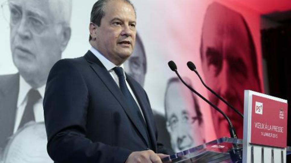 Le premier secrétaire du PS Jean-Christophe Cambadélis, le 14 janvier 2015 à Paris