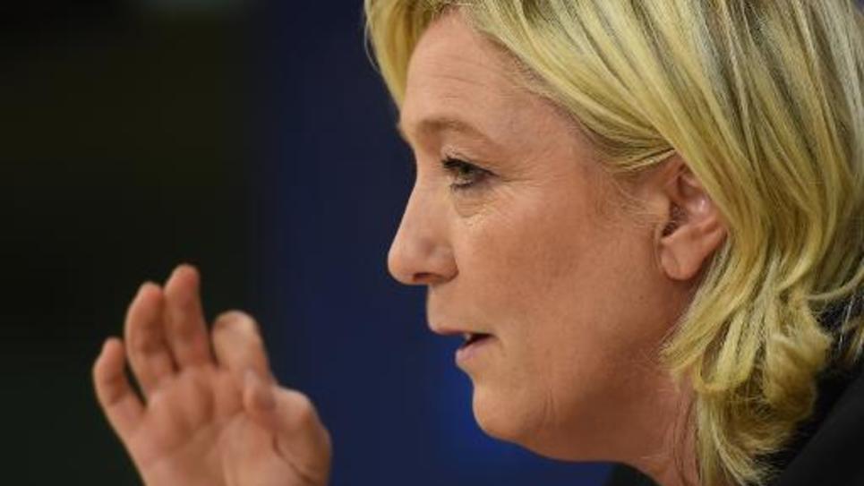 La présidente du FN Marine Le Pen à Bruxelles le 22 janvier 2015