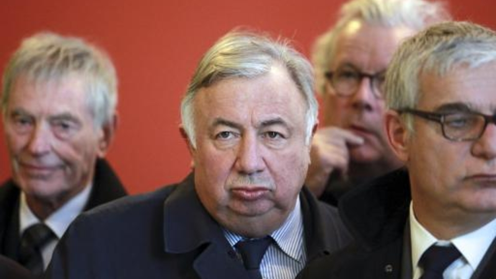 Le président du Sénat Gérard Larcher, le 12 janvier 2015 à Bordeaux