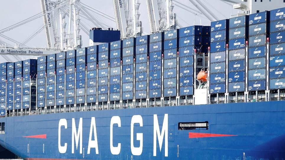 Inauguration du plus gros porte-conteneurs battant pavillon français, le CMA CGM Antoine de Saint Exupéry, le 6 septembre 2018 au Havre