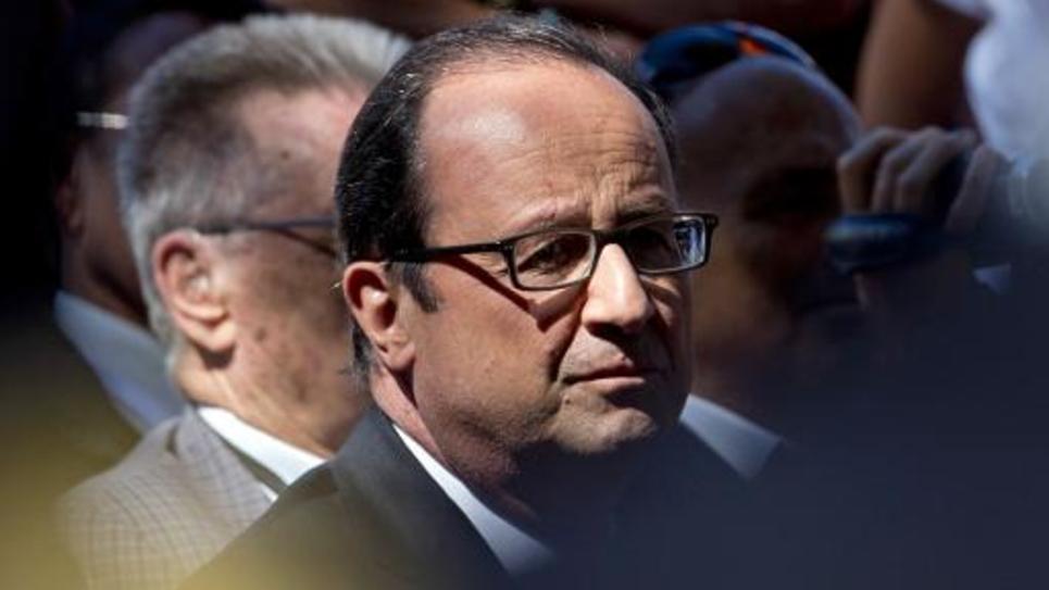 Le président français François Hollande le 15 août 2014 à Toulon