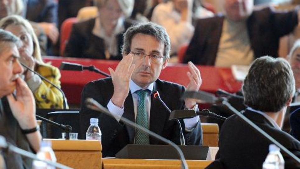 Le maire DVD de Neuilly-sur-Seine, Jean-Christophe Fromantin, le 31 mars 2011 à Nanterre