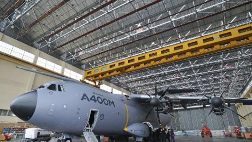 Un Airbus A400M à l'usine Airbus de Toulouse le 27 février 2014