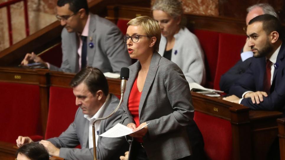 Clémentine Autain, députée La France insoumise (LFI), le 7 novembre 2018 à l'Assemblée nationale à Paris