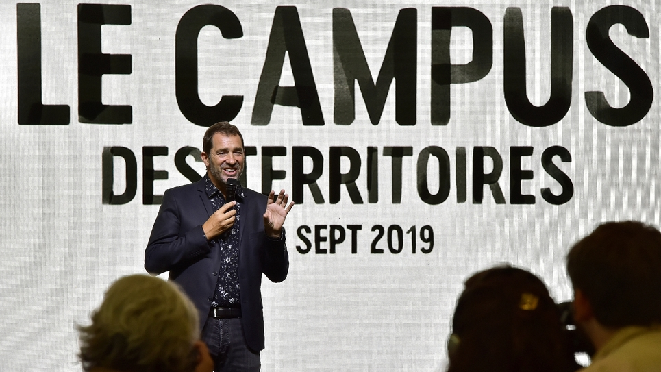 Le ministre de l'Intérieur, Christophe Castaner au Campus des territoires de LREM, le 7 septembre 2019 à Bordeaux