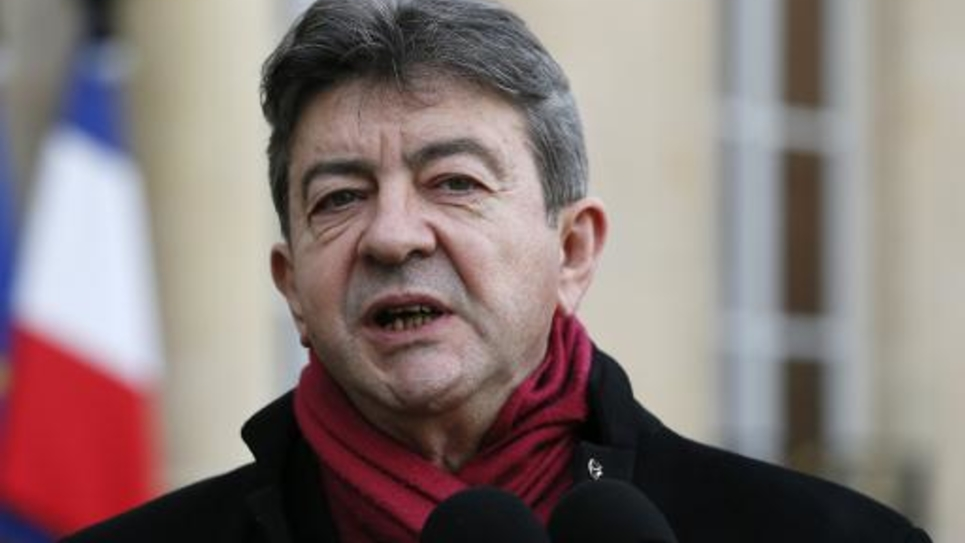 Jean-Luc Melenchon le 9 janvier 2015 à l'Elysée à Paris