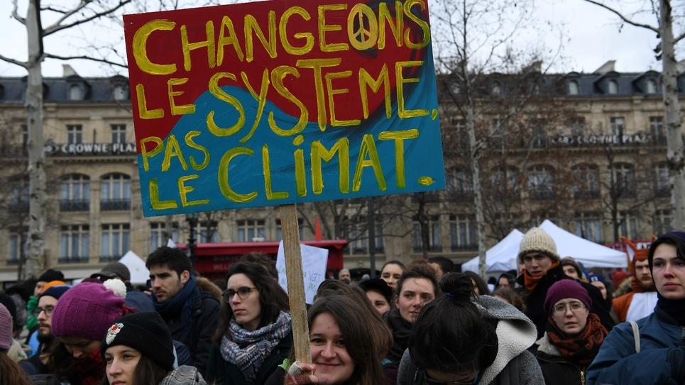 Manifestation pour le climat, le 27 janvier 2019 à Paris