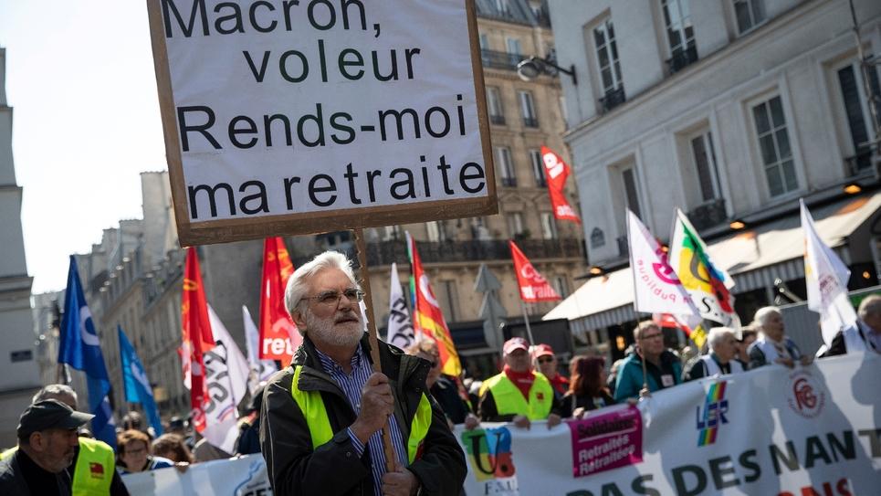 Manifestation de retraités à Paris, le 11 avril 2019