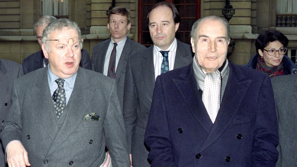 Michel Charasse et François Mitterrand