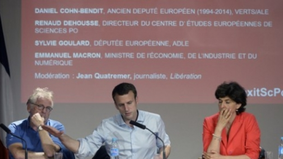 Emmanuel MAcron Daniel Cohn-Bendit: colloque à Sciences Po 25 juin 2016