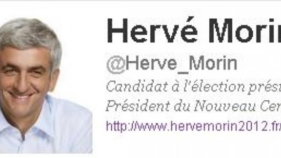 Compte Twitter Hervé Morin