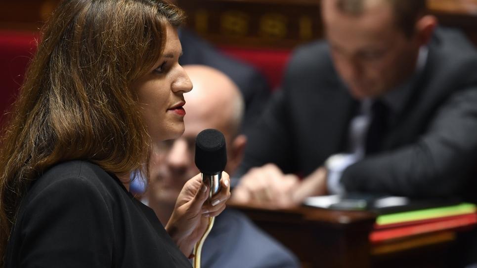 Marlene Schiappa, secrétaire d'Etat à l'Egalité entre les femmes et les hommes, à l'Assemblée nationale à Paris, le 17 octobre 2018